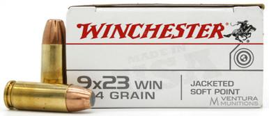 Winchester Target 9x23 Win 124gr JSP Ammo - 50 Rounds