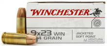 Winchester Target 9x23 Win 124gr JSP Ammo - 50 Rounds