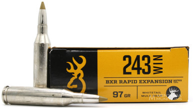 Browning BXR 243 Win 97gr Rapid Expansion Ammo - 20 Rounds