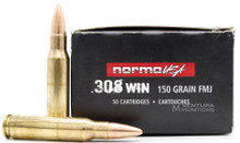 Norma USA 308 Win 150gr FMJ Ammo - 50 Rounds