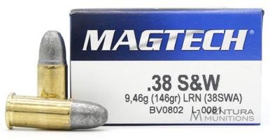 Magtech 38 S&W 146gr LRN Ammo - 50 Rounds