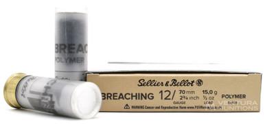 "Sellier & Bellot 12ga 2.75"" 1/2oz Door Breaching Ammo - 10 Rounds"