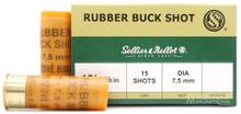"Sellier & Bellot 12ga 2.75"" 15 Rubber Buck Ammo - 25 Rounds"