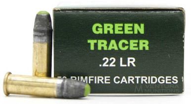 Piney Mountain Ammo 22LR 40gr Green Tracer Ammo - 50 Rounds