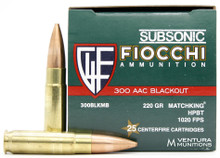 Fiocchi Shooting Dynamics 300 Blackout 220gr SMK Ammo - 25 Rounds