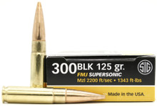 Sig Sauer Elite Performance 300 Blackout 125gr FMJ Ammo - 20 Rounds