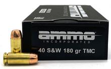 Ammo Inc 40 S&W 180gr TMC Ammo - 50 Rounds