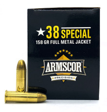 Armscor 38 Special 158gr FMJ Ammo - 100 Rounds