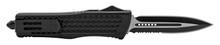 OTF Black/Double Edge Dagger Auto OTF Knife BLK FOA1112BK