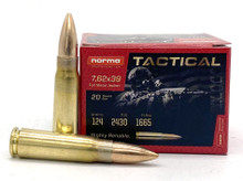 Norma USA 7.62x39 124gr FMJ Brass Ammo - 20 Rounds
