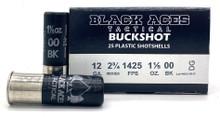 "Black Aces Tactical 12ga 2.75"" 00 Buck #9 Shot Ammo - 25 Rounds"