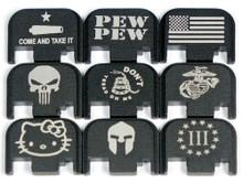Engraved Glock Back Plate Gen 1-4