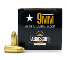 Armscor 9mm 115gr FMJ Ammo - 100 Rounds