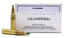 Armscor 5.56 NATO 62gr SS109 M855 FMJ Ammo - 20 Rounds