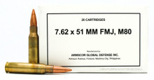 Armscor 7.62x51mm 147gr FMJ M80 Ammo - 20 Rounds
