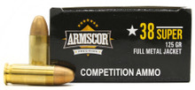 Armscor 38 Super 125gr IPSC Competition FMJ Ammo - 50 Rounds