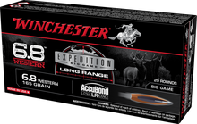 Winchester Expedition Big Game 6.8 Western 160gr Accubond LR Ammo - 20 Rounds