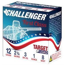 """Challenger First Class 12ga 2.75"""" 1oz #8 Shot Ammo - 25 Rounds"""