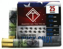 "American Tactical 410ga 2.5"" 1/3oz 12 Pellet BBB Buck Ammo - 25 Rounds"