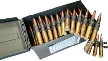 Federal Lake City .50 BMG 4:1 M33/M17 Tracer 660gr Linked Ammo in Can - 100 Rounds