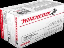 Winchester USA 22-250 Rem 45gr JHP Ammo - 40 Rounds