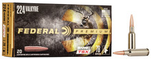 Federal Premium 224 Valkyrie 78gr Barnes TSX Ammo - 20 Rounds