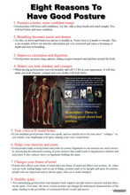 8 Reasons to Have Good Posture Poster
