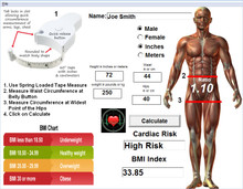 Waist-Hip Ratio and BMI Calculator