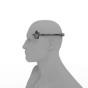 Temple electrodes for brainwave entrainment