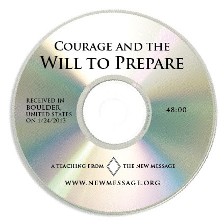 Courage and the Will to Prepare CD