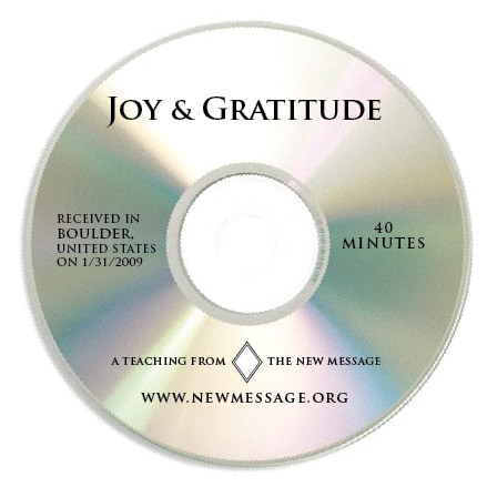 Joy and Gratitude CD