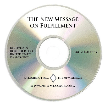 The New Message on Fulfillment CD