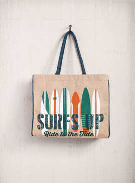 Mona B Surfs Up Burlap Bag