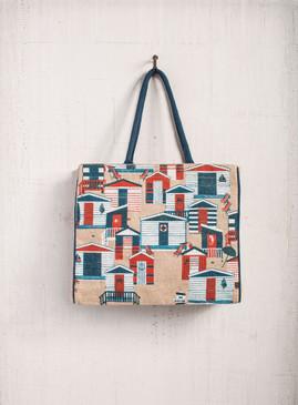 Mona B Cabana Burlap Tote Bag