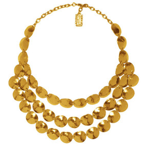 Lucie Matte Gold Necklace