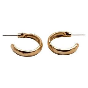 Karine Sultan Half Hoop Earrings Gold