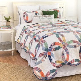 Heritage Wedding Ring Quilt Set