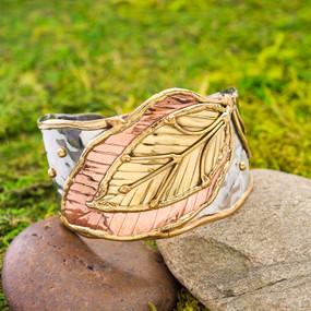 Bella Leaf Cuff Bracelet