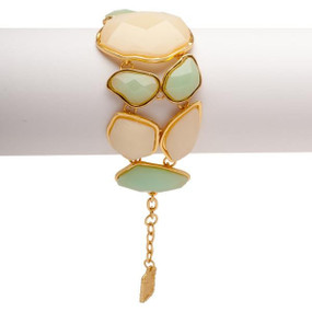 Soft Green & Cream Statement Bracelet