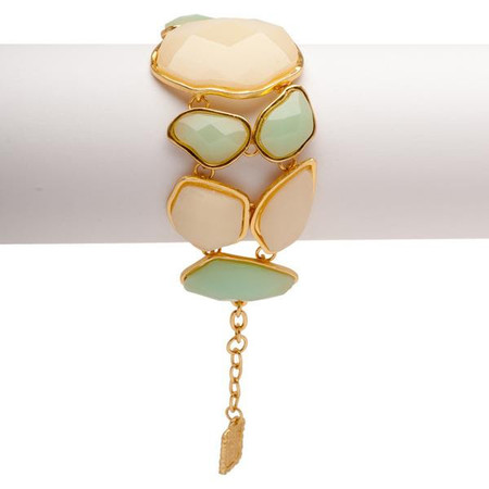 Soft Green & Cream Statement Bracelet