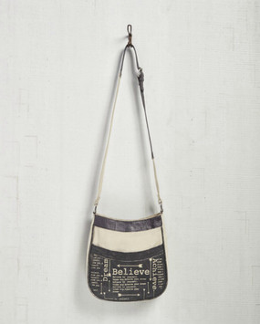 Believe Achieve Recycled Canvas Crossbody Bag