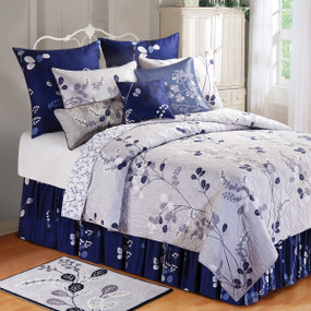 Silver & Navy Geneva Quilt Collection