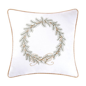 Golden Greenery Square Pillow
