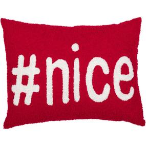 #nice Christmas Toss Pillow