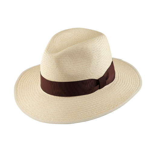 Down Brim Trilby Panama - OPORTO with Chocolate band