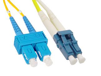 SC to LC Singlemode Duplex Fiber Optic Cable