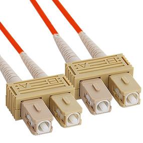 OM2 SC to SC Multimode Duplex Fiber Optic Cable - 8 meters