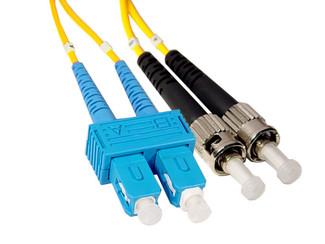 SC to ST Singlemode Duplex Fiber Optic Cable