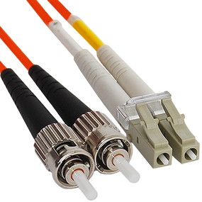 OM2 ST to LC Multimode Duplex Fiber Optic Cable - 20 meters