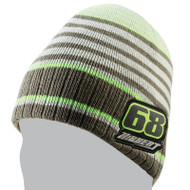 Tucker Hibbert 68 Grey Stripe Beanie